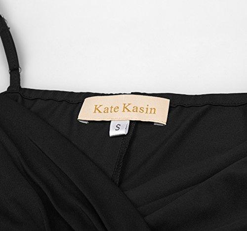 Kate Bretelles Spaghetti Maternité Kasin Robe Maxi Col En V 1 #