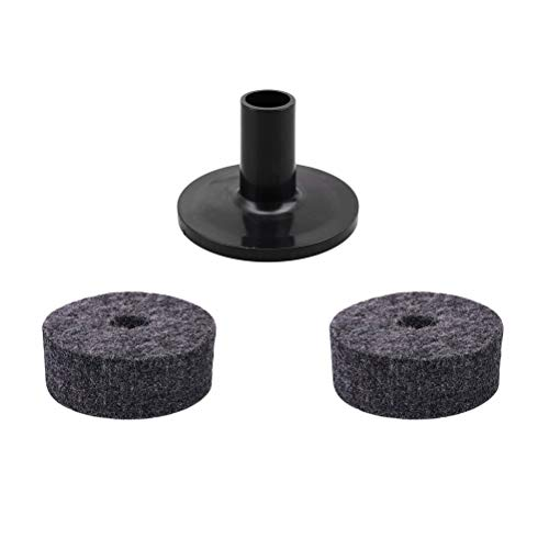 2 PCS Strap Button Felt Washers Drum Silencer Drumming Practice Pad with 1 PC Cymbal Sleeve Cymbals Accessory