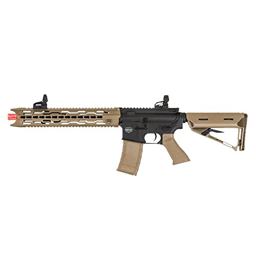 Valken Tactical AEG V2.0 TRG Battle Machine Airsoft Rifle, Black/Dust, Large