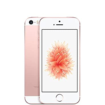 Apple iPhone SE 64GB Unlocked GSM LTE Smartphone Rose Gold (Certified Refurbished)