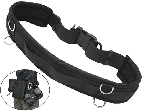 Tactical Duty Belt Adjustable Utility Waist Strap Belt For Quick Release With D Rings And Loop For Hanging Tripod Monopod Camera Case Lens Case Flash Case Sd Card Pouch And More For Photographers