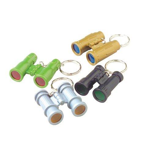 Mini Key Colour (Lot Of 12 Assorted Color Mini Binocular Key Chains)