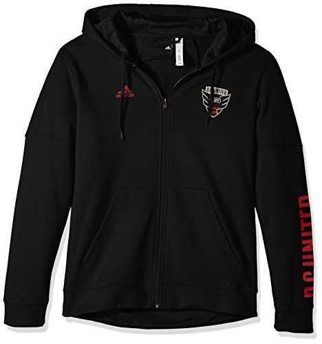 Dc Lined Sweatshirt (adidas MLS D.C. United Adult Men Armed Team Issue Full Zip Hood, Large, Black)