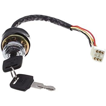 Amazon.com: Poweka Ignition Switch with Key for 50cc 70cc 90cc 110cc on