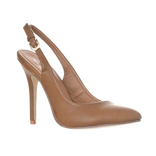 ucy Pointed-Toe, Sling Back Pump Stiletto Heels, Khaki PU, 8.5 ()