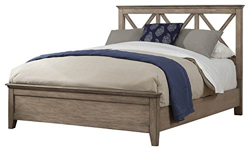 Alpine Furniture Platform Bed in French Truffle Finish (Eastern king: 87 in. L x 82 in. W x 50 in. H) by Alpine Furniture
