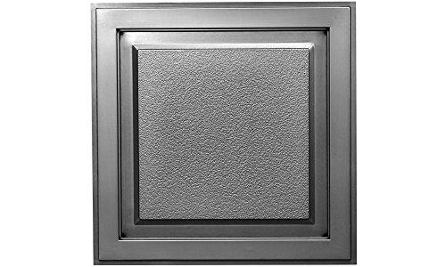 Plastic Ceiling Tiles 2x2 - Cornerstone Ceiling Tile (Antique Nickel)