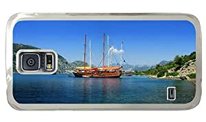 Hipster free Samsung Galaxy S5 Cases sailboats turkey vacation PC Transparent for Samsung S5