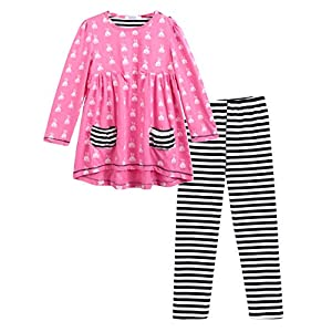 Arshiner Little Girls Clothing Sets Bunny Long Sleeve Outfits 2 PCS Top Leggings Sets