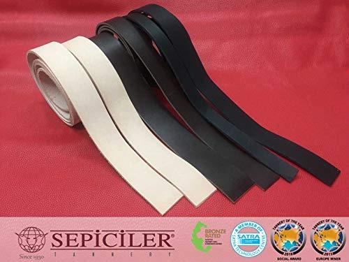 - Sepici Leather | Veg-Tanned, 8/9 Oz. (3.2-3.6mm) Black, Belt Blanks, Various Length & Width (52