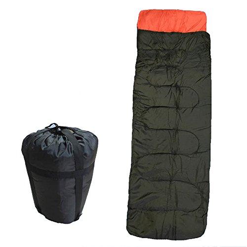 COCO Camping en plein air camping sac de couchage adulte individuel printemps automne épaissir garder au chaud coton pause déjeuner intérieur ( Couleur : Marron )
