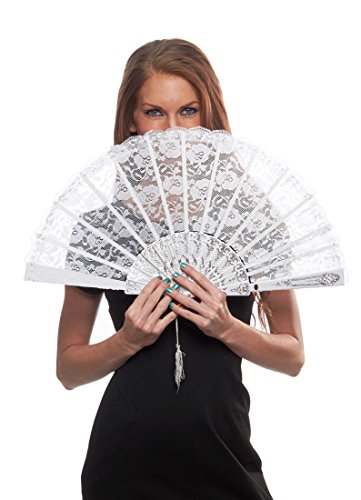 [Marie Antoinette Oversized Fan, White] (Fan Costumes)
