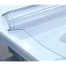 Thick Soft Glass Solid Transparent PVC Protector / PVC Pad for Desk, Table, Lab Bench, Marble and so on (39.5 x 90 inches)