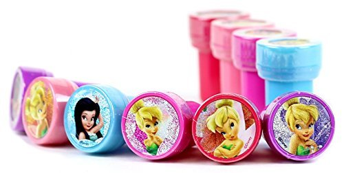 Disney Tinker Bell Self-Inking Stamps / Stampers Party Favors (10 Counts) by GoodyPlus -