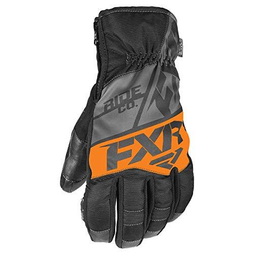 FXR Mens Fuel Short Glove (Black/Charcoal/Orange, X-Large)