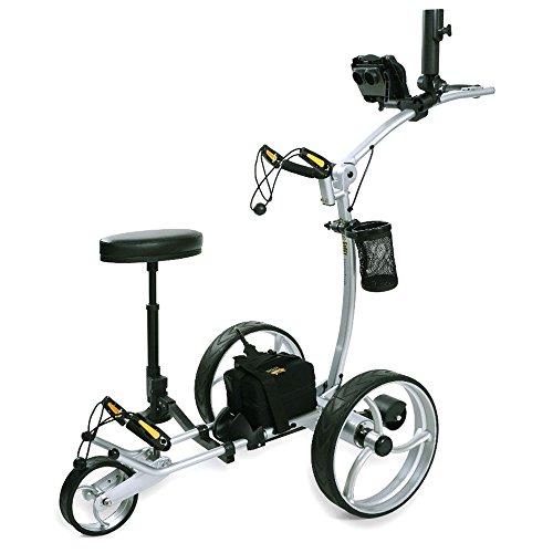 Bat-Caddy X8 Pro Electric Golf Push Cart 2017 12V 35 36Ah SLA Battery Silver