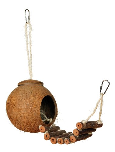 41hEkUoWkbL - Prevue Hendryx 62801 Naturals Coco Hideaway with Ladder Bird Toy