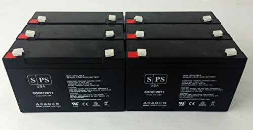 6V 12Ah LightAlarms 860.0010 Battery SPS Brand - SPS BRAND (6 Pack) by SPS