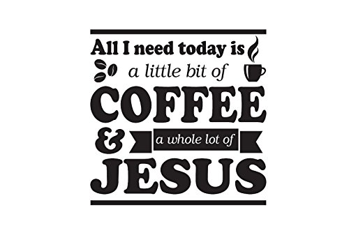 All i need is Coffee and Jesus Sticker Decal (can do any color just message me . All of our stickers and decals can be made Yeti cup size to - Size Do I Need Glasses What