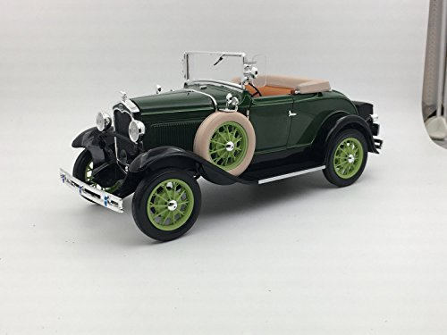 - 1931 Ford Model A Roadster Brewster Green 1/18 Diecast Model Car by Sunstar 6123