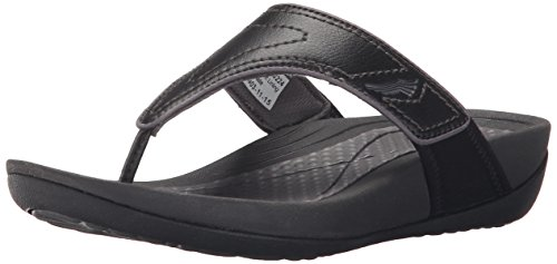 Dansko-Womens-Katy-2-BlackGrey-Smooth-Flip-Flop