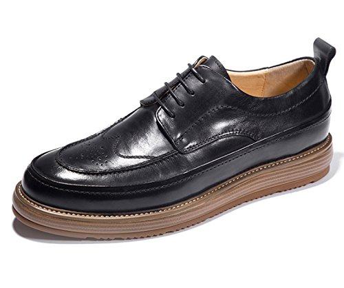Les Chaussures Habillées De MSM4Men Les Chaussures Bullock Ont une Chaussure Lisse Upper Black Brown Yellow Black oUVodOf