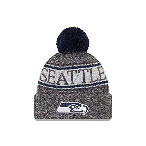 New Era Seattle Seahawks Gray/Graphite Sport Knit NFL 2018 Beanie Unisex Hat Graphite, OSFM