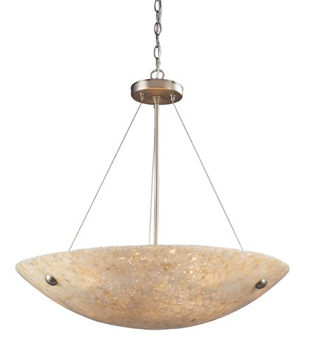 Elk 8887/6 6-Light Pendant In Satin Nickel And Pearl Stone