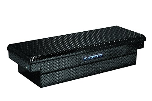 Lund (79305DBPB) Black 72″ Aluminum Diamond Plated Deep Well Push Button Cross Bed Truck Tool Box
