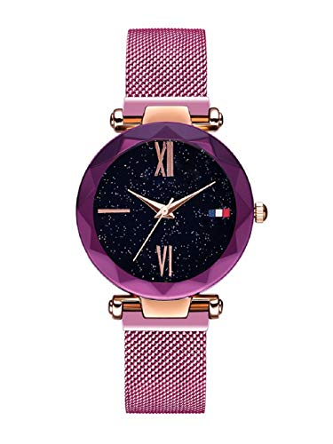 Women Watches, L'ananas Starry Sky Dial Diamond Cutting