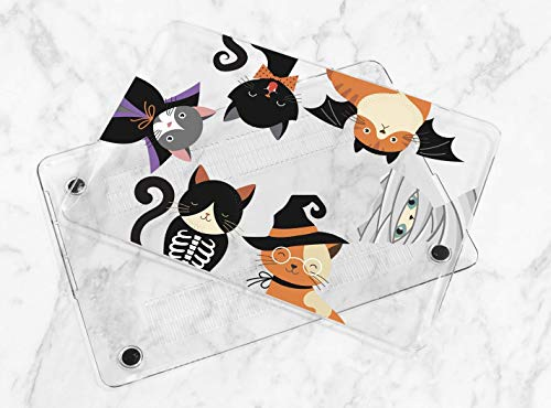 Cute Halloween Cats Hard Plastic Cover Case For Apple Macbook Air Pro 11 12 13 15 2016 2017 2018 Inch Retina Touch Bar -