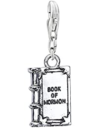 Clip on Lobster Clasp Claw Charm Religious Book of Mormon Charm for Bracelet