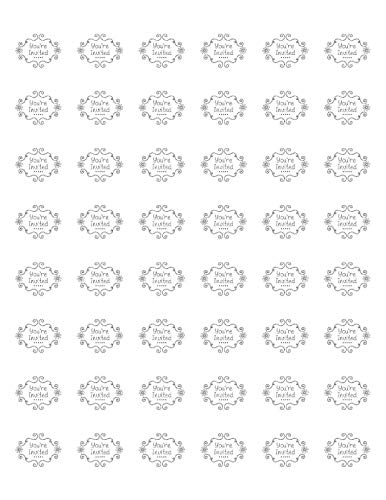 Sticker 48 You're Invited Envelope Seals Labels, 1.2