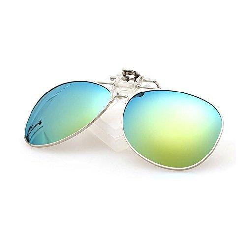Clip Lentille Pilote UVA Cicongzai Polarisées C3 Femmes Anti Anti Pêche Hommes À Proximité Color Vision Conduite Clip Lunettes de Nighte UV Soleil C6 Vue Vision Ovale Vélo rXRzvUwqr