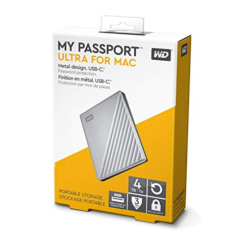 WD 4TB My Passport Ultra for Mac Silver Portable External Hard Drive, USB-C - WDBPMV0040BSL-WESN by Western Digital (Image #5)