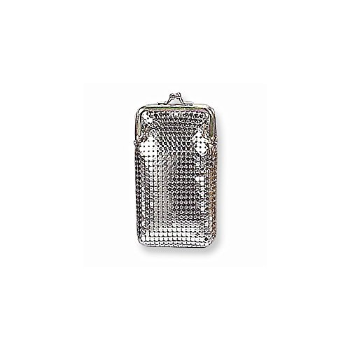 (Silver-tone Sequin Cigarette Case)