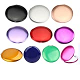 10pcs Different Colors Double Compact Cosmetic Makeup Round Pocket Purse Magnification Jewel Mirror (10pcs-A)