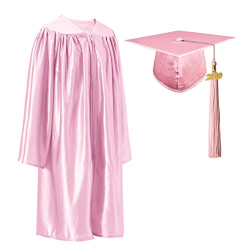 GraduationRoyal Shiny Kindergarten Gown Cap Tassel Set with 2019 Gold Year Charms