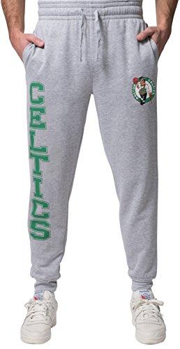 Nba Mens Boston Celtics Jogger Pants Active Basic Soft Terry Sweatpants  Large  Gray