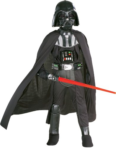 Rubies Star Wars Classic Child's Deluxe Darth Vader Costume and Mask, -