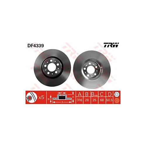 Genuine TRW Vented Brake Discs - Part Number DF4339: