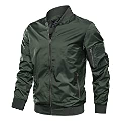 TACVASEN Men's Jacket-Lightweight Spring Fall Flight Bomber Zip Pockets Coat Outwear Material:Polyester Style:Outdoor/Casual Color:Khaki,Navy,Dark grey,Black,Green,Khaki Size:S,M,L,XL,2XL Machine Wash ATTENTION  The color of the item may vary...