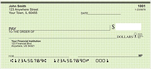 Valued Price Safety Personal Checks (Single & Duplicate Options) (1 Box Duplicates, Green Safety)