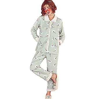 BOZEVON Womens Nursing Pyjama Set Winter Warm