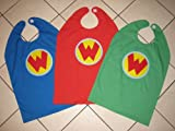 ALL 3 Wonder Pets Pet Cape Linny Tuck Ming Ming GREEN, RED, and BLUE Cape