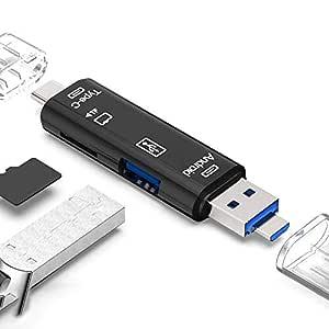 Lector de Tarjetas SD/TF, 3 en 1 USB 2.0 / USB C/Lector de ...