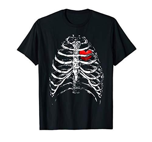 (Skeleton Shirt Xray 3D Rib Cage Halloween)