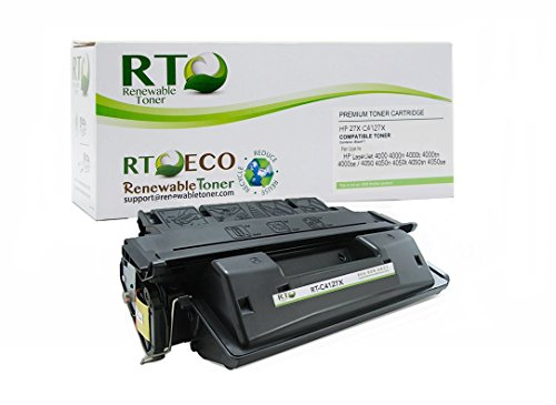 - Renewable Toner Compatible Toner Cartridge High Yield Replacement for HP 27X C4127X Laserjet 4000 4050