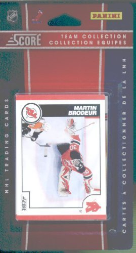 2010/11 Score Hockey Cards Team Set -Jersey Devils- 16 Cards Including Stars- Ilya Kovalchuk, Zach Parise, Martin Brodeur and more Rookie card of Nick Palmieri. (Rookie Card Parise Zach)