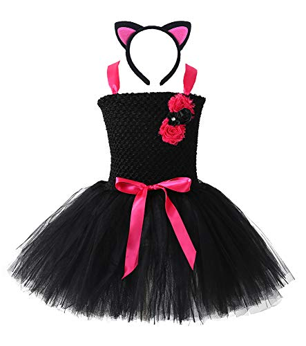 Tutu Dreams Animal Costume(Mouse,Horse,Shark,Cat) for Girls 1-12Y Birthday Halloween Party (catgirl, Small) -